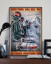 skiing racing choose something fun poster 11x17 Poster lifestyle-poster-2
