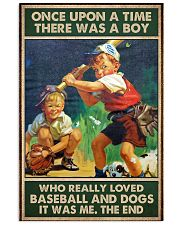 baseball boy dog once upon a time poster 24x36 Poster front