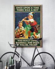baseball boy dog once upon a time poster 24x36 Poster lifestyle-poster-7