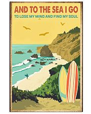 surfing And to the sea I go 11x17 Poster front