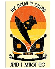 surfing the ocean is calling 11x17 Poster front