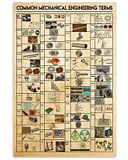 Common Mechanical Engineering Terms 24x36 Poster front