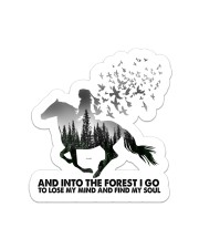 horse girl into forest into forest sticker Sticker - Single (Vertical) front