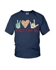 peace-love-ASL Youth T-Shirt thumbnail