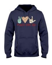 peace-love-ASL Hooded Sweatshirt thumbnail
