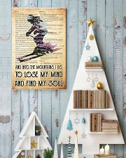 skiing into old paper 11x17 Poster lifestyle-holiday-poster-2