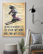 skiing into old paper 11x17 Poster lifestyle-poster-1