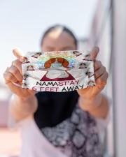 beagle yoga namastay mas Cloth Face Mask - 3 Pack aos-face-mask-lifestyle-07