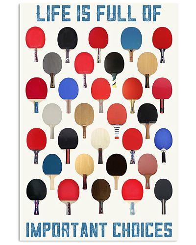 ping pong paddle choice