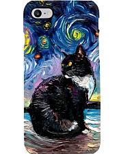 tuxedo cat strry nght pc ttb nth ads Phone Case i-phone-8-case