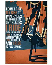 cycling i dont ride my bike 11x17 Poster front