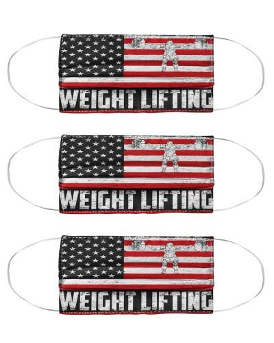 Weight Lifting us flag mas