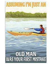 Kayak Assuming old man 16x24 Poster front