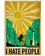 hiking i hate people poster 11x17 Poster front