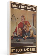 Pool and beer easily distracted pt dvhh-ntv 16x24 Gallery Wrapped Canvas Prints thumbnail