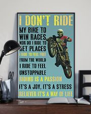 motocross i ride to feel fre poster 11x17 Poster lifestyle-poster-2