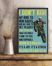 motocross i ride to feel fre poster 11x17 Poster lifestyle-poster-3