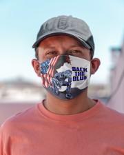back the blue jesus mas Cloth Face Mask - 3 Pack aos-face-mask-lifestyle-06