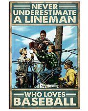 lineman loves baseball poster 11x17 Poster front