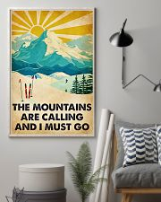 skiing the mountains are calling poster 11x17 Poster lifestyle-poster-1
