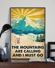 skiing the mountains are calling poster 11x17 Poster lifestyle-poster-2