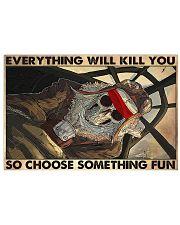 skeleton pilot choose st fun pt phq ngt 17x11 Poster front