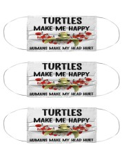 Turtles Make Me Happy mas Cloth Face Mask - 3 Pack front