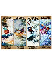 kayak be strong dvhd 17x11 Poster front