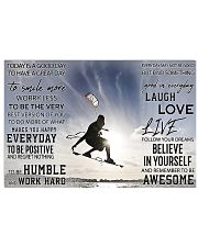 Kite surfing good day to be a great day dvhh-DVH 17x11 Poster front