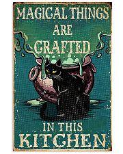 black cat retro magical kitchen 11x17 Poster front