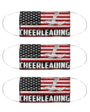 Cheerleading us flag mas Cloth Face Mask - 3 Pack front
