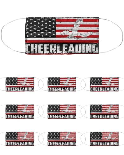 Cheerleading us flag mas