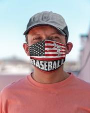baseball us flag mas Cloth Face Mask - 3 Pack aos-face-mask-lifestyle-06