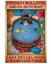 french bulldog bath soap pt art lqt NTH 11x17 Poster front