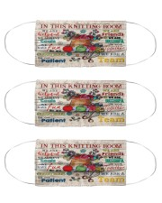 in this knitting room mas Cloth Face Mask - 3 Pack front