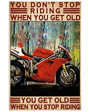 ducat biker dont get old poster 11x17 Poster front