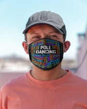 pole dance typographic mas Cloth Face Mask - 3 Pack aos-face-mask-lifestyle-06