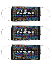 pole dance typographic mas Cloth Face Mask - 3 Pack front