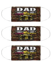 firefighter dad first hero first love mas Cloth Face Mask - 3 Pack front