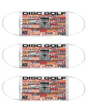 disc golf typo mas Cloth Face Mask - 3 Pack front