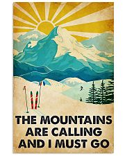 skiing the mountains are calling mas Vertical Poster tile