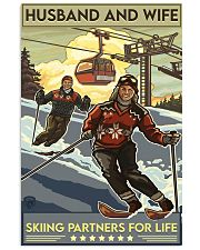 skiing partners for life 8-6 11x17 Poster front