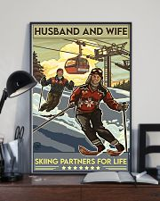 skiing partners for life 8-6 11x17 Poster lifestyle-poster-2
