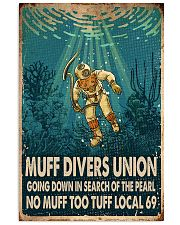 scuba diving muff diver poster 16x24 Poster front