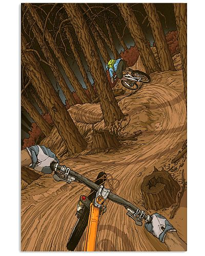 mountain biking Illustration