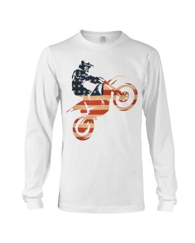 dirt bike us flag