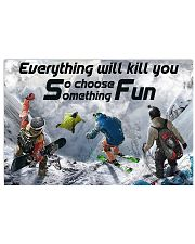 parachute jump choose something fun 17x11 Poster front