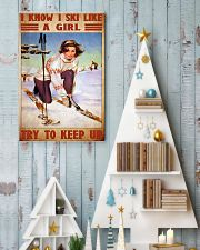 skiing girl try to keep up poster 11x17 Poster lifestyle-holiday-poster-2