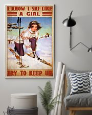 skiing girl try to keep up poster 11x17 Poster lifestyle-poster-1