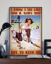 skiing girl try to keep up poster 11x17 Poster lifestyle-poster-2